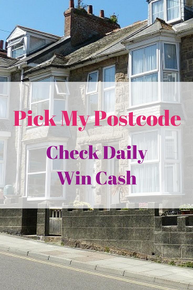 Pick My Postcode - Check Daily Win Cash