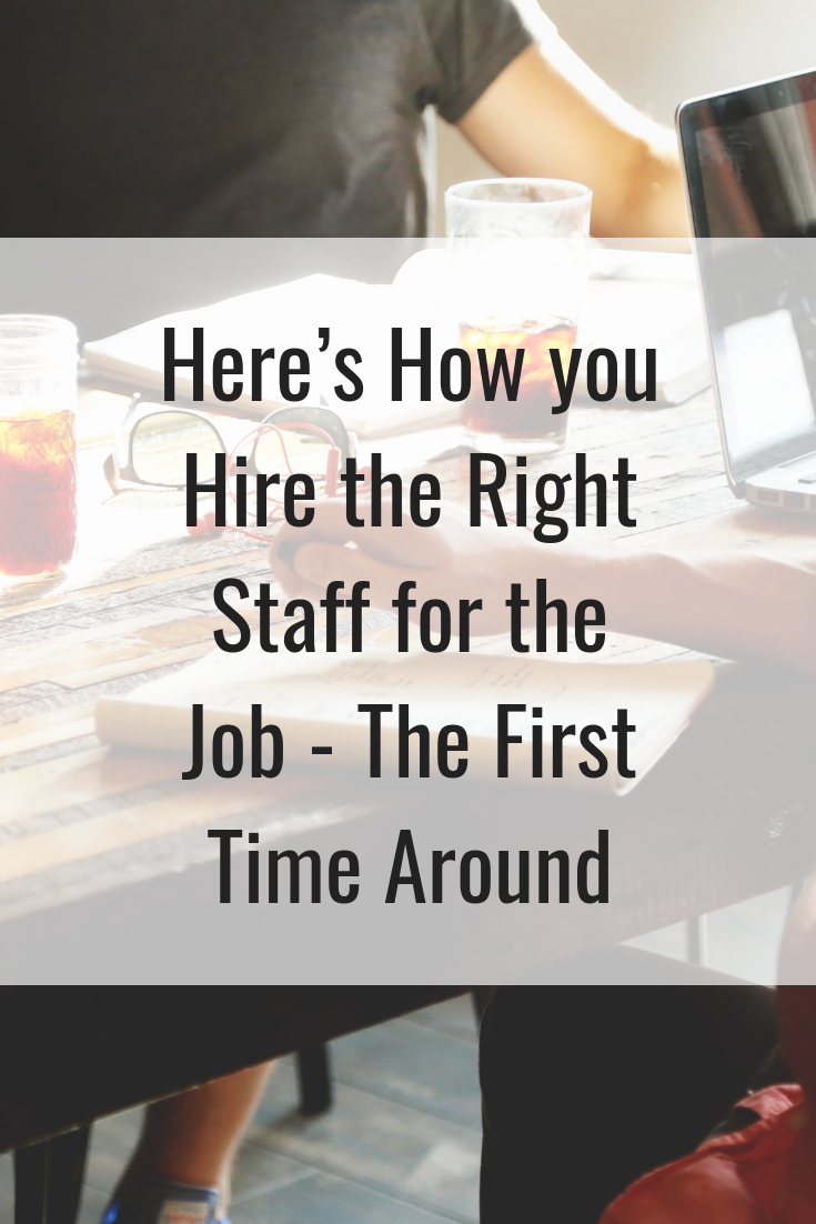 Here's How you Hire the Right Staff for the Job- The First Time Around