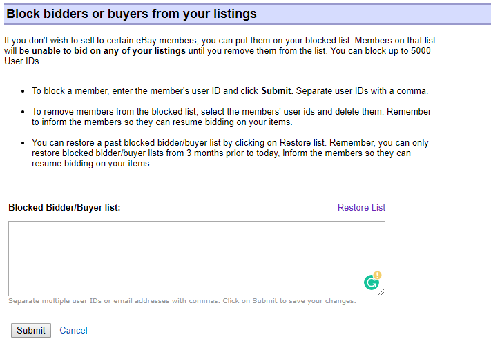 How To Block A Buyer On eBay