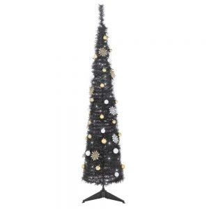 Grandeur Pop Up Black Christmas Tree - 6ft