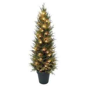 Mr Crimbo Gorgeous 3ft (90cm) Potted Pre Lit Realistic Artificial Tree