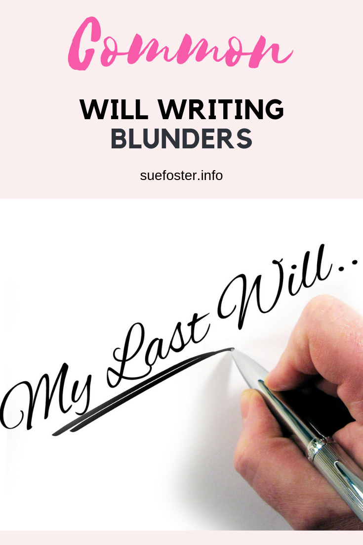 Common Will Writing Blunders