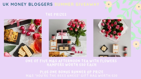 UK Money Bloggers Giveaway Prizes