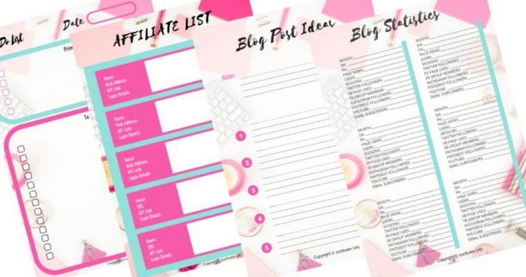 Blogging bundle - free printables