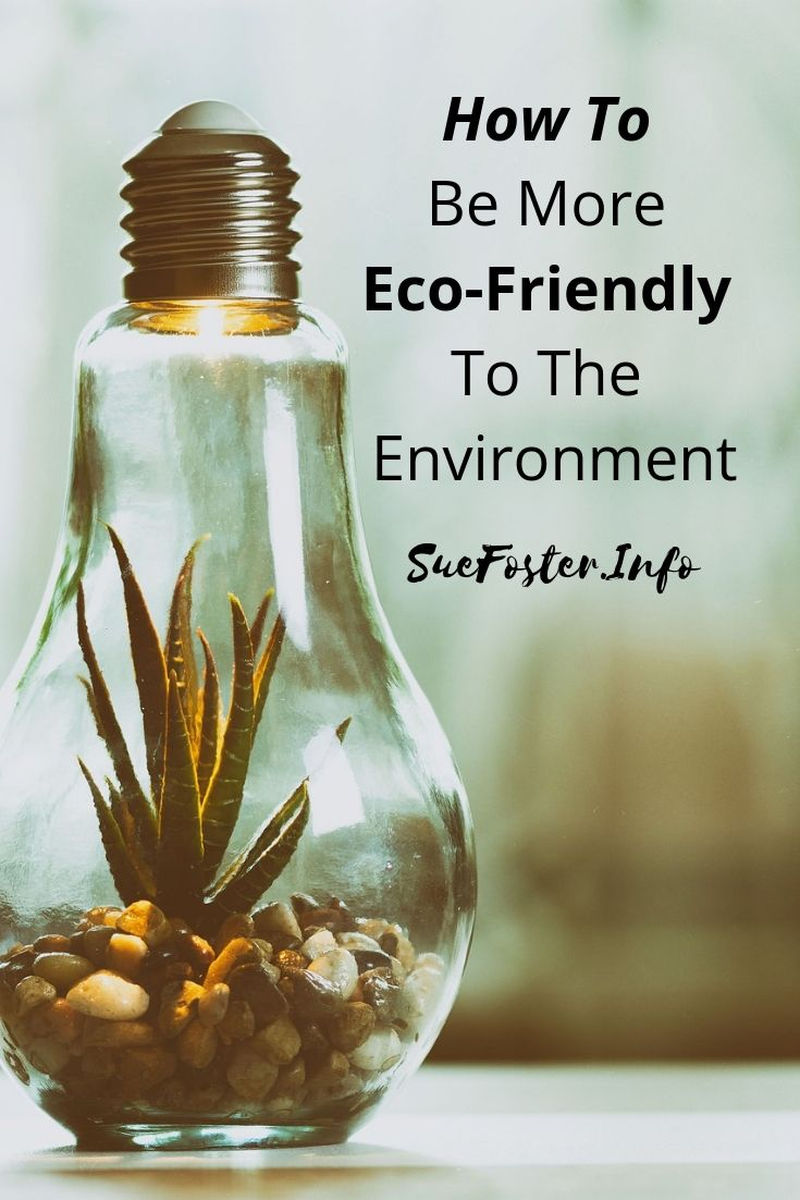 How To Be More Eco-Friendly To The Environment