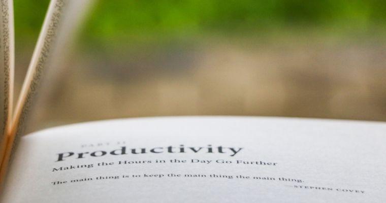 Improving Productivity As An Online Entrepreneur