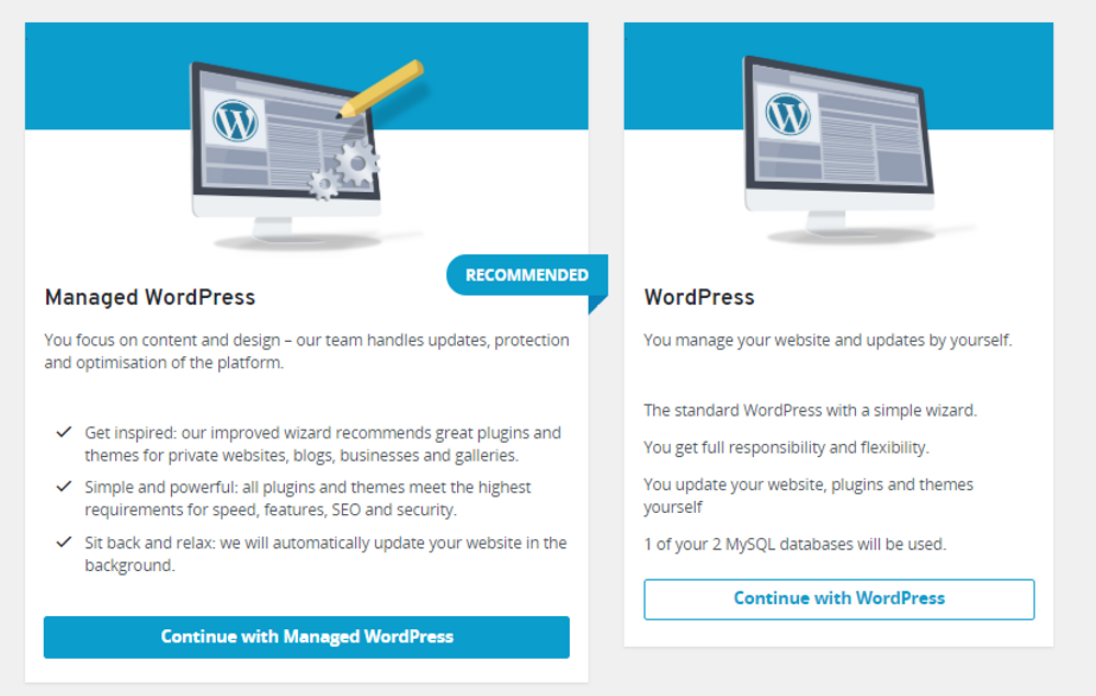 Select managed WordPress