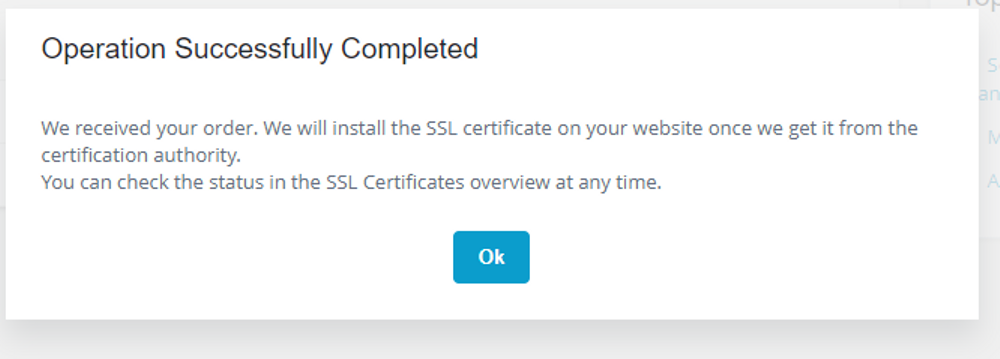 SSL completed