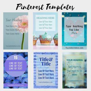 6 blue themed editable pins