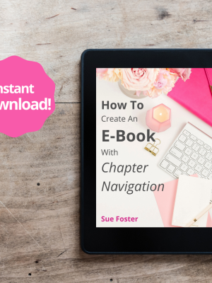 How to create an e-book with chapter navigation, instant download