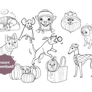 Funny Dogs Colouring Pages For Kids