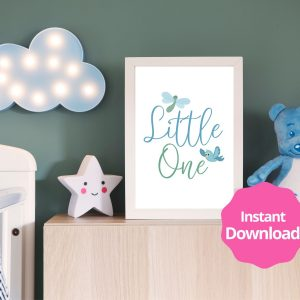 Little One Baby Boy Printable Instant Download