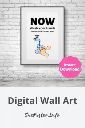 Now wash your hands printable digital art