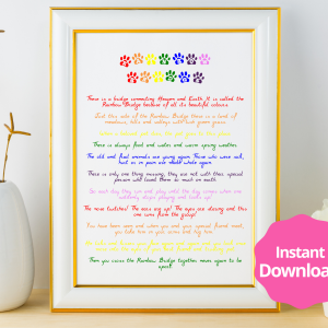 Rainbow Bridge Printable Instant Download Wall Art