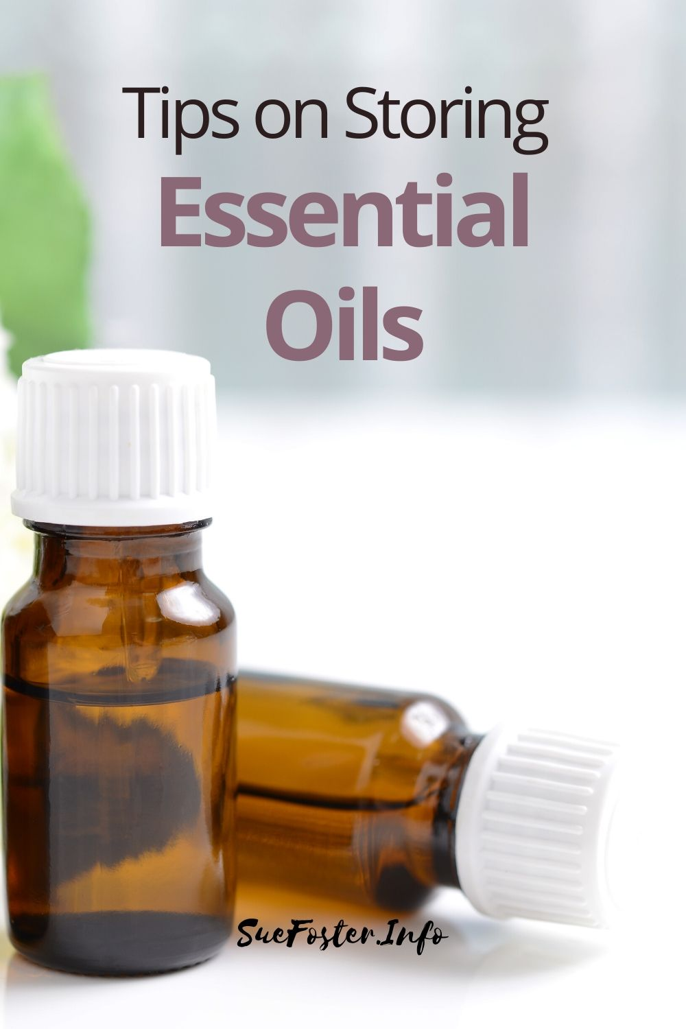 Properly storing essential oils will prolong their shelf life. The conditions that your essential oils are stored in can have an impact on their quality.