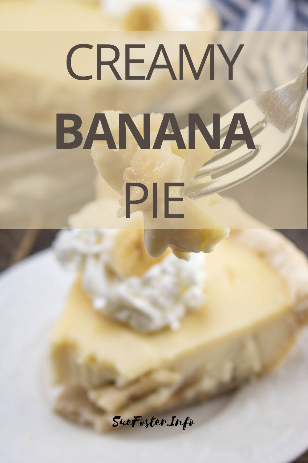 Don't throw out your uneaten bananas, so much food goes to waste these days, make this delicious creamy banana pie instead!