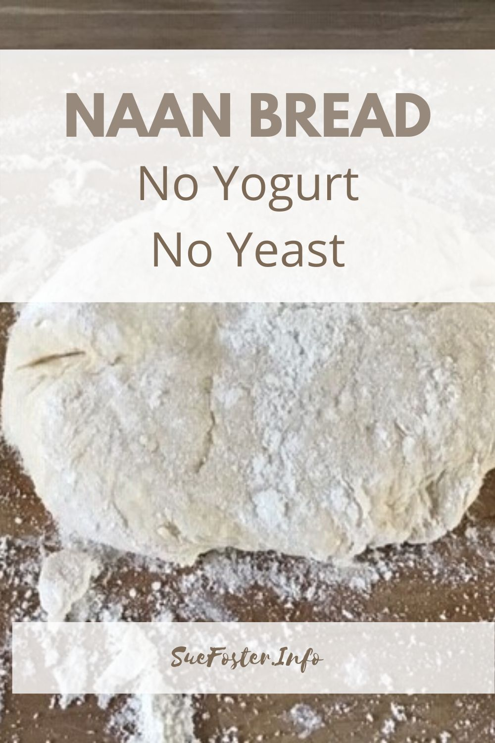 An easy naan bread for when you don't have many ingredients. Yogurt and yeast aren't needed.