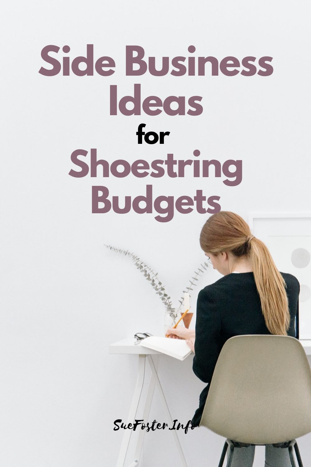 Don't let the costs stop you from setting up a side business, as there are many things you can do with very little outlay.