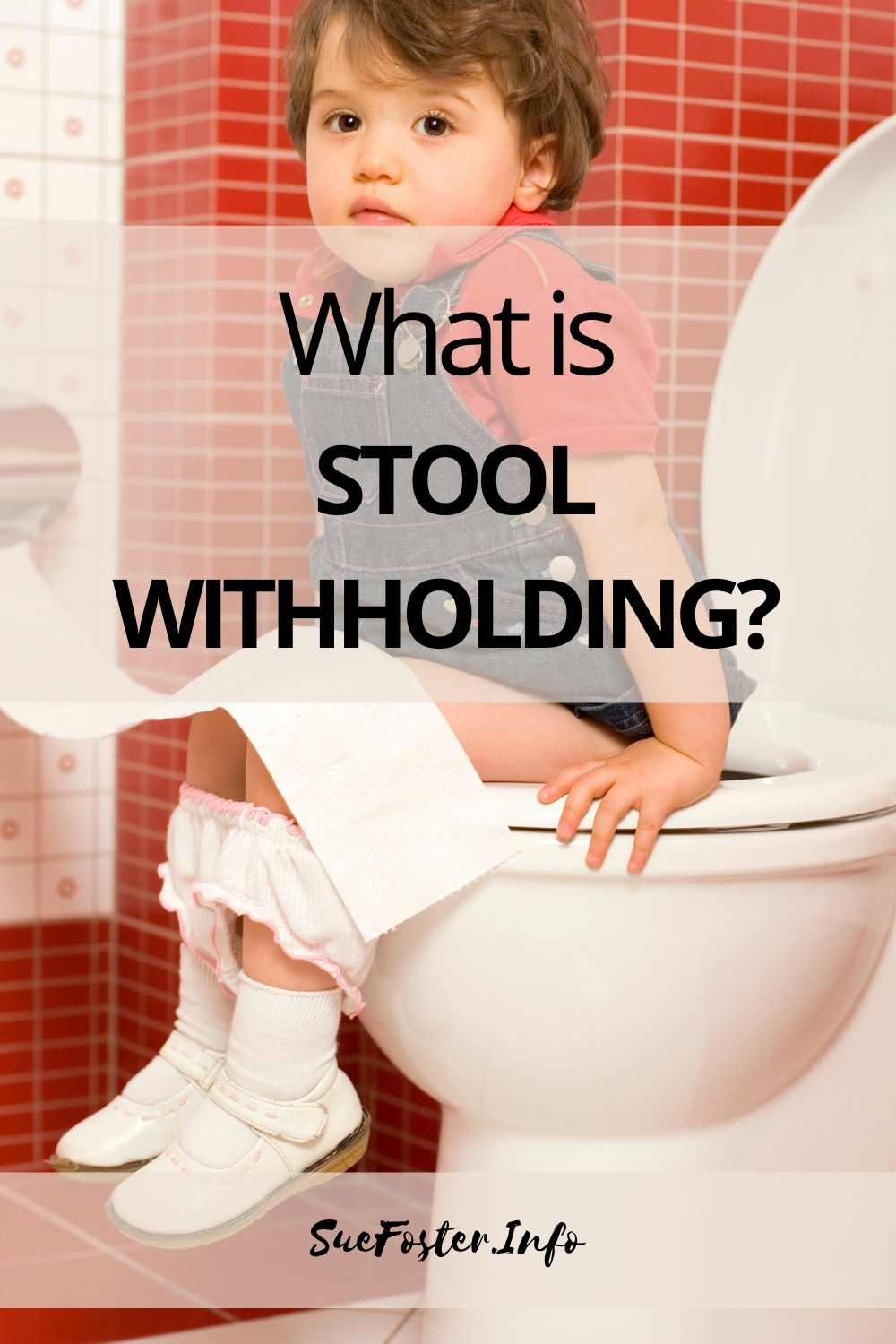 Stool withholding is when a child or a baby hold their stools in for days or weeks at a time. It can stem for example from various things such as being frightened to go to the toilet in case it hurts, or not wanting to use dirty school toilets.