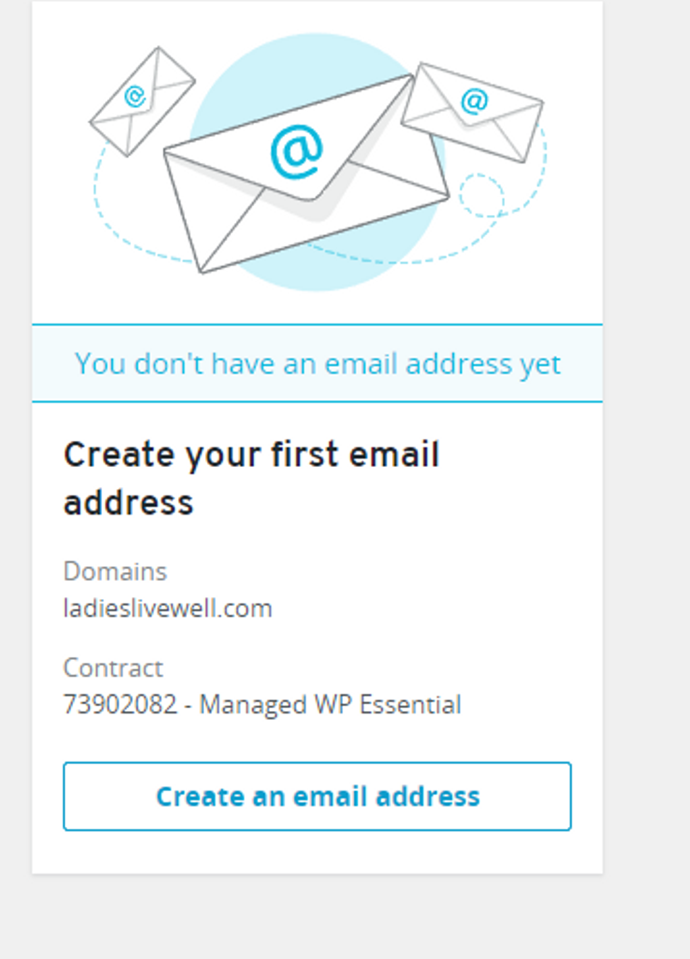 Image showing Ionos create an email address page.