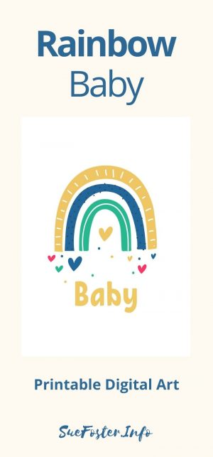 Rainbow Baby Printable Digital Art