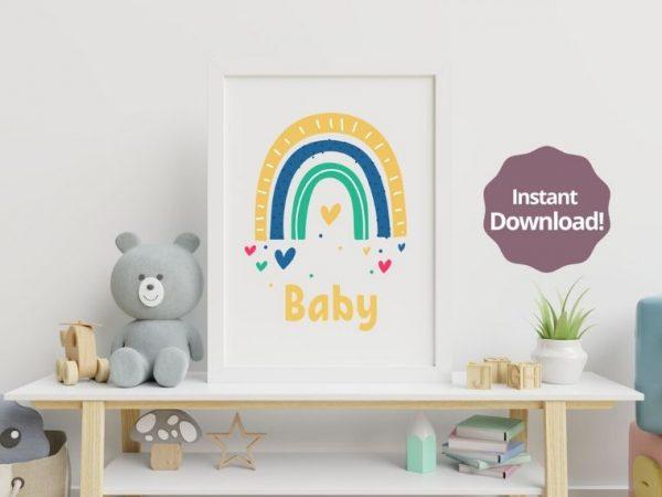 Rainbow Baby Printable