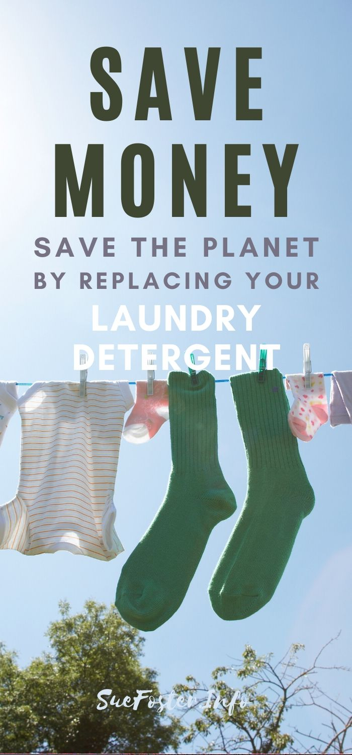 Save money and save to planet by replacing your laundry detergent.