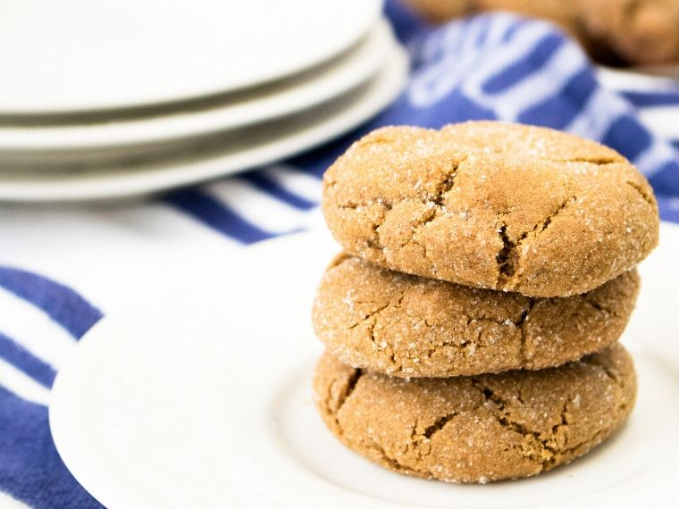 Chewy spiced ginger cookies