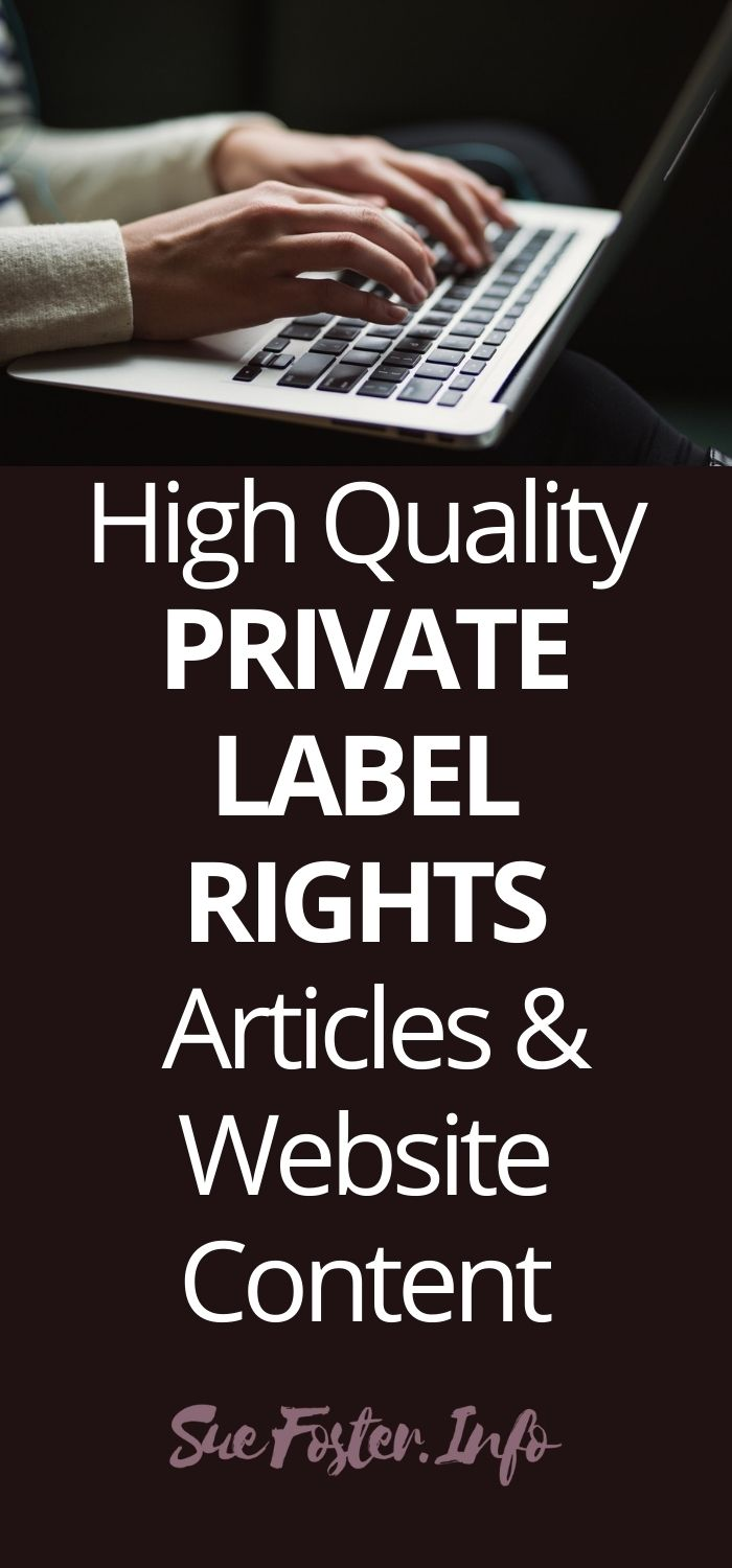 High Quality Private Label Rights Articles & Website Content