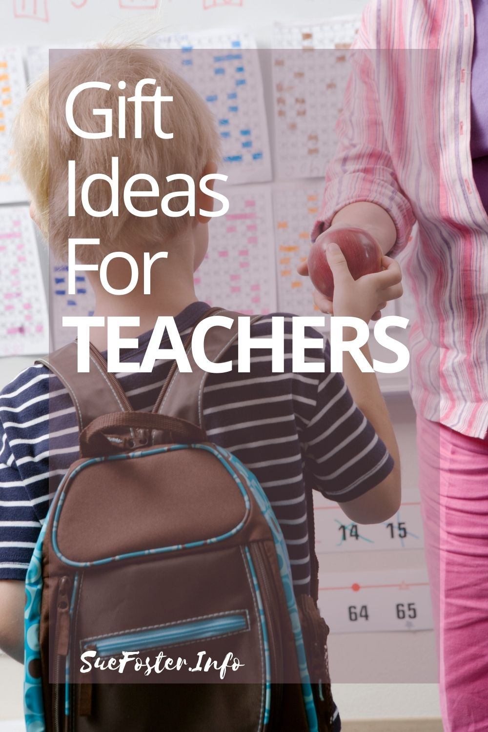 Gift ideas for teachers at the end of term.