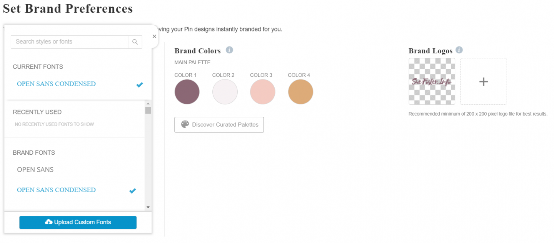 Set brand preferences