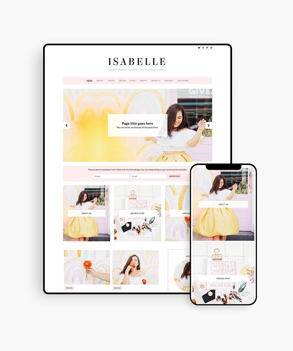 Isabelle WordPress Theme