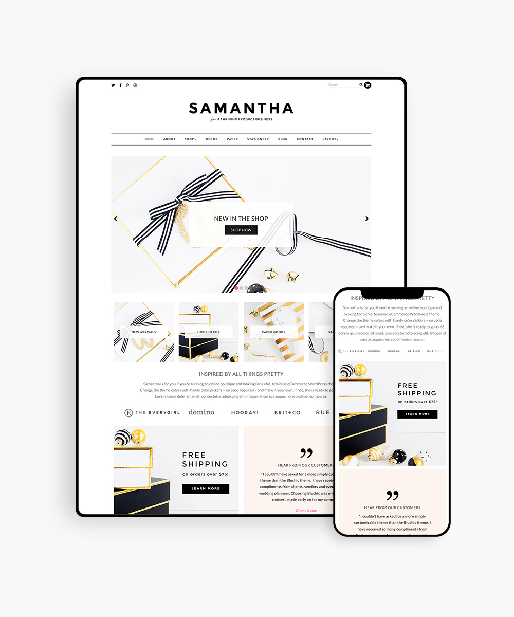 Samantha WordPress Theme