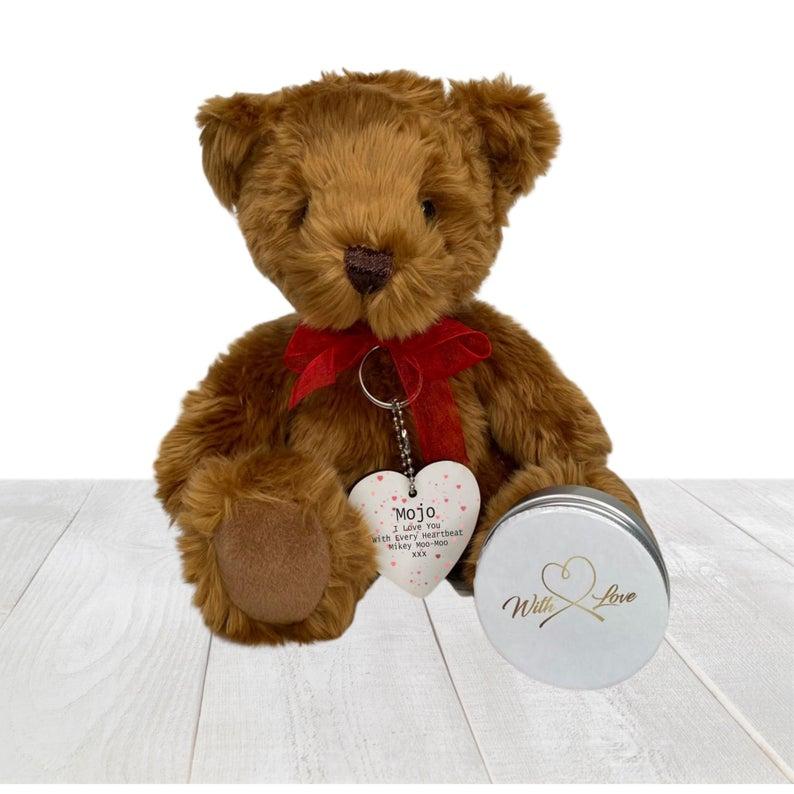 Personalised love message teddy bear