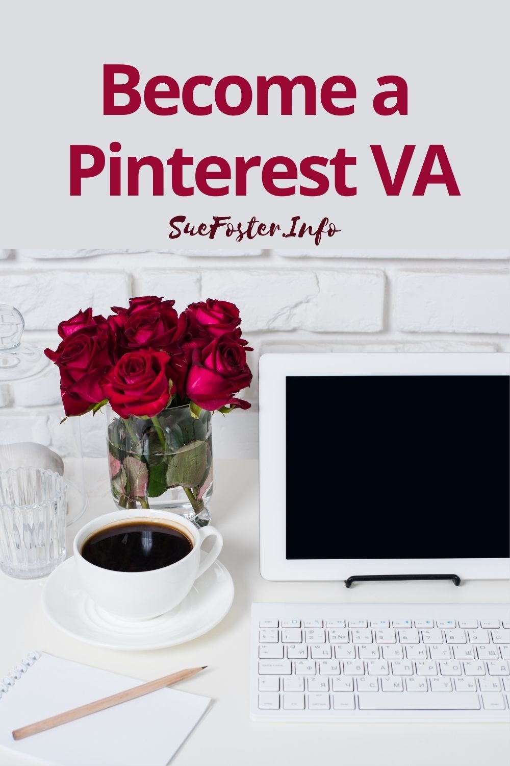 Become a Pinterest VA - Work from home self-study program.