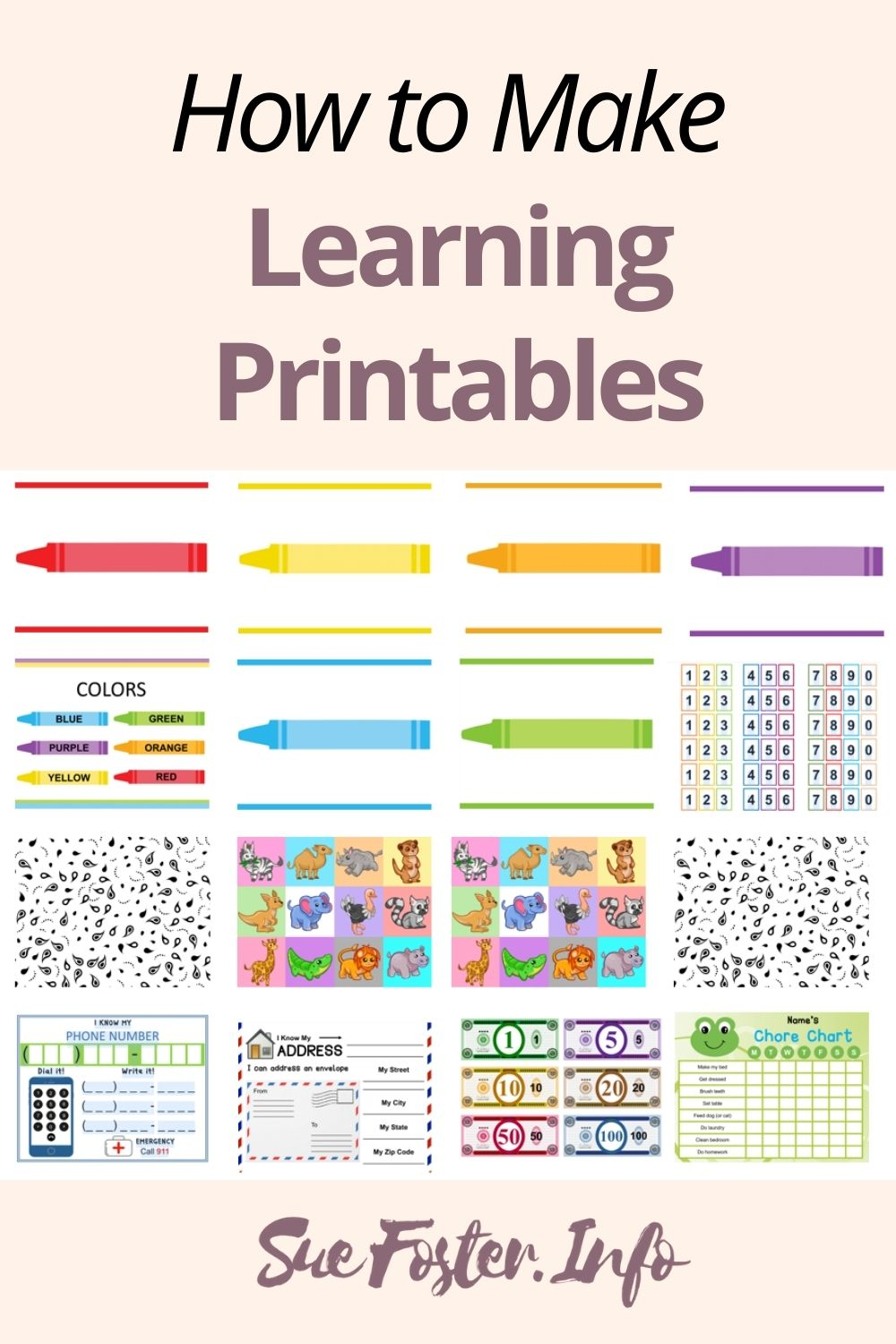 How to Make Learning Printables