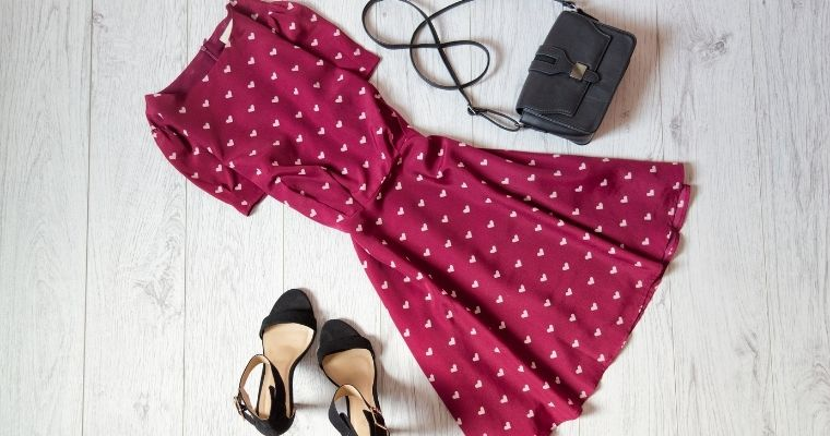 pretty dress, bag and shoes