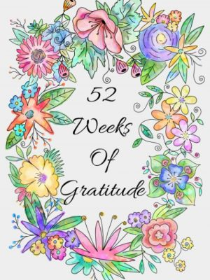 Spring flowers gratitude journal for women with 52 weeks of inspirational quotes.