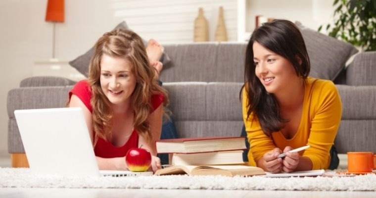 Teens learning from home