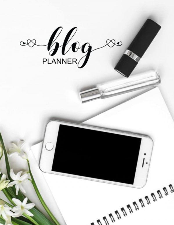 Blog planning notebook for noting down blog post details, social media shares and other blogging tasks