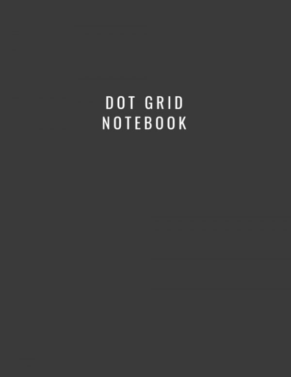 A simple dot grid notebook with a black matte cover containing 110 dot grid pages.