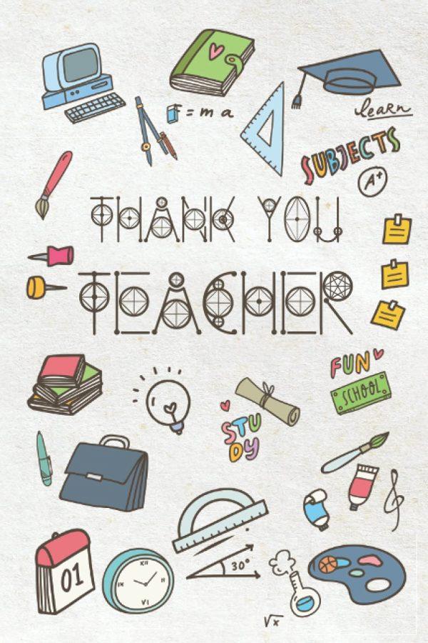 Thank you teacher notebook, end of term teacher appreciation gift.