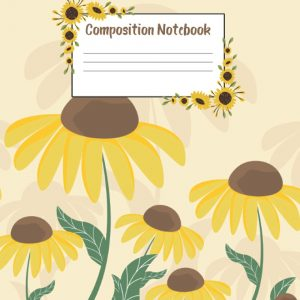Sunflower composition notebook
