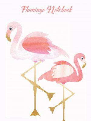 Pink flamingo notebook/journal