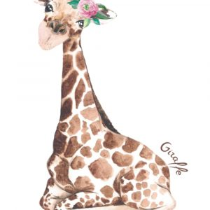 Giraffe notebook for journaling or taking down notes.
