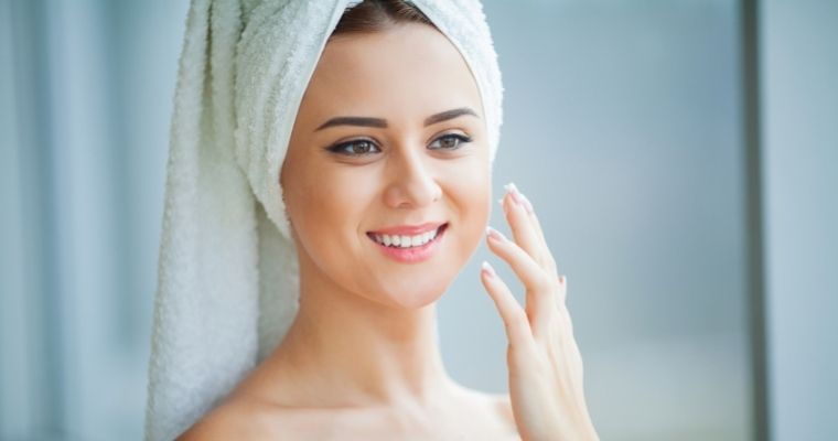 Woman Caring For Her Skin