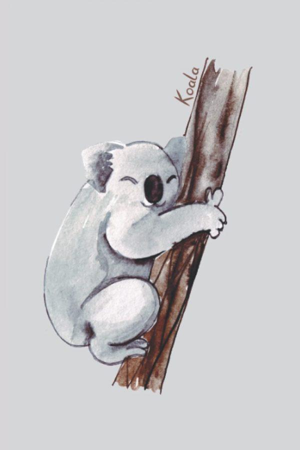 Koala notebook journal with the koala bear on each interior page.