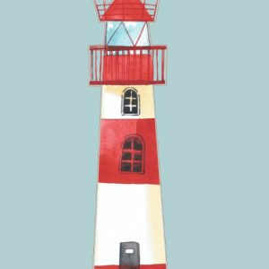 A lovely lighthouse notebook/journal that also features the lighthouse image on each of the interior pages. Perfect for anyone who loves the seaside and lighthouses!