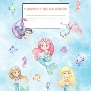 Mermaid composition notebook for girls