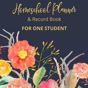 Homeschool planner and record book for one student. Undated so that you can start at any time of the year.